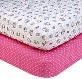 Hello Kitty Cute as a Button 2-Pack Fitted Crib Sheets