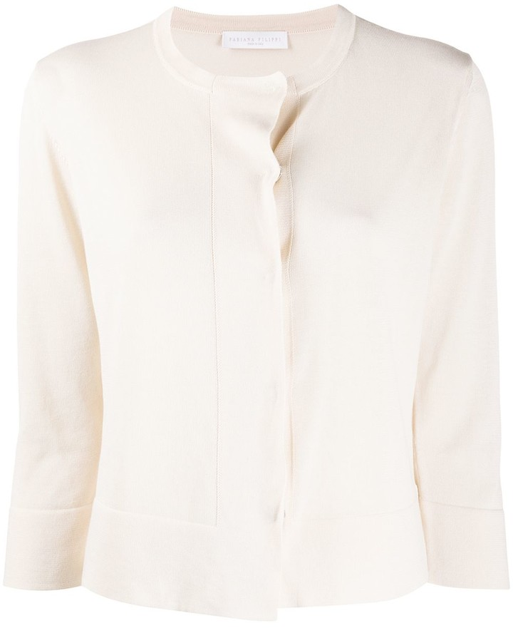 Fabiana Filippi Cropped Sleeve Cardigan