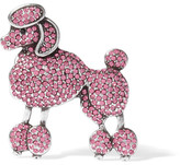 Marc Jacobs Poodle Silver-tone Crystal Brooch - Pink