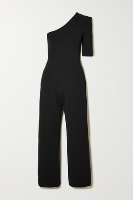 Stella McCartney Net Sustain One-sleeve Stretch-knit Jumpsuit - Black