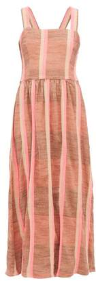 Ace&Jig Willa Striped Cotton Midi Dress - Womens - Beige Multi