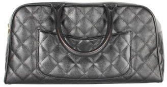 Chanel Black Caviar Leather Bowling Bag