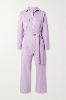 Maggie Marilyn Net Sustain Bite The Bullet Organic Denim Jumpsuit - Lilac