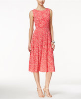Jessica Howard Petite Printed Midi Dress