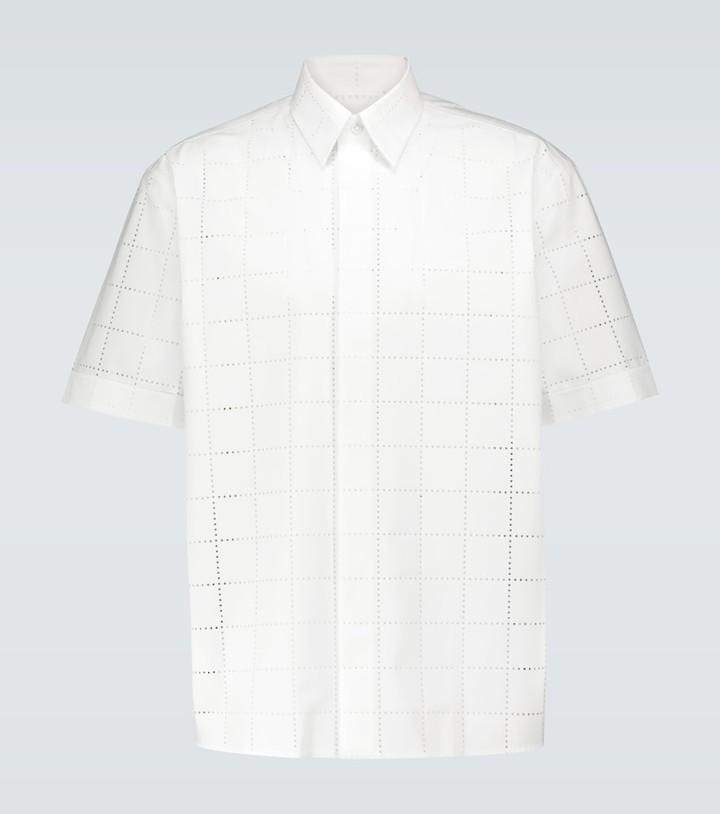Fendi Perforated short-sleeved shirt