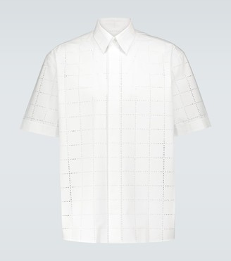 Fendi Perforated short-sleeved shirt