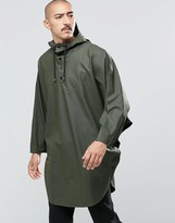 Rains Waterproof Poncho In Green