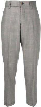 Pt01 Prince of Wales check cropped trousers
