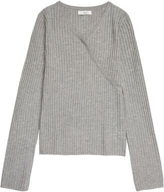 1901 Kids' Faux Wrap Ribbed Sweater