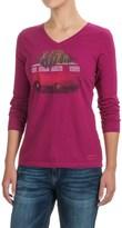 Life is Good Crusher V-Neck T-Shirt - Long Sleeve (For Women)