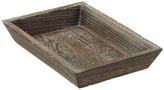 Container Store Small Feathergrain Wood Tapered Tray