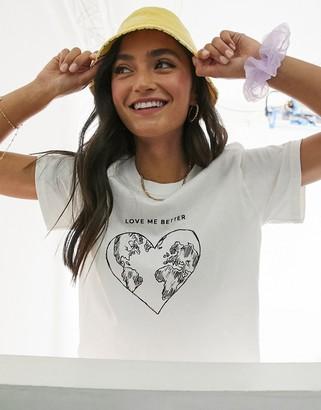 Miss Selfridge 'love me better' t-shirt in white