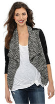 A Pea in the Pod Maternity Draped Faux-Leather-Trim Jacket