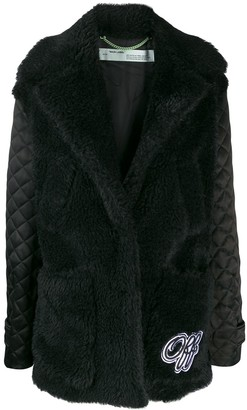 Off-White Faux-Fur Padded Coat