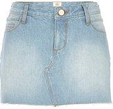 River Island Womens Light wash denim mini skirt