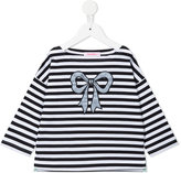 Familiar stripe and bow T-shirt