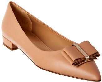 Salvatore Ferragamo Zeri Leather Ballet Flat
