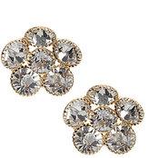 Natasha Accessories Crystal Flower Stud Earrings