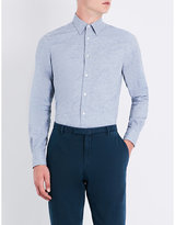 Boglioli Slim-fit brushed-cotton shirt