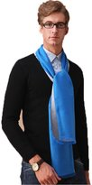 Fashion Land Business Men Silk Brushed Winter Cozy Warm Long Neck Scarf Grey