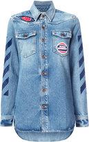 Off-White patches denim shirt - women - Cotton - 38