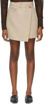 Thumbnail for your product : Acne Studios Beige Hemp & Linen Asymmetric Miniskirt