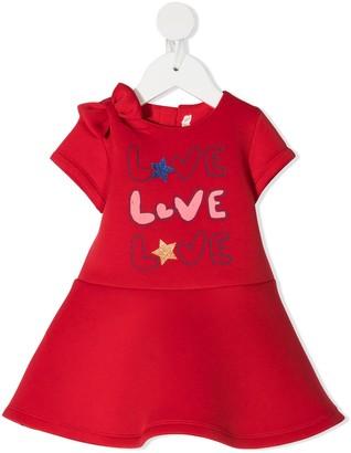 Billieblush Love A-line neoprene mini dress