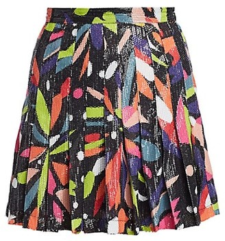 Olivia Rubin Poppy Abstract Floral Sequin Skirt