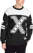 Southpole Men's Stadium Crew Neck Pull Over Fleece with Big Applique Sweatshirt