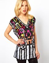 Asos Oversized T-Shirt with Tribal Sequin