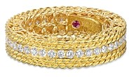 Roberto Coin 18K Yellow Gold Princess Diamond Band