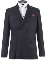 Burton Mens Montague Navy Double Breasted Blazer