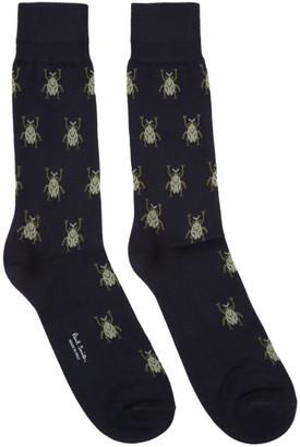 Paul Smith Navy Beetle Socks