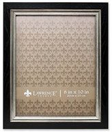 Lawrence Frames Black with Burnished Silver Composite Picture Frame, 8 by 10-Inch