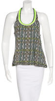 Elizabeth and James Embellished Geometric Print Top