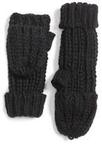 Hinge Women's Textured Stitch Pop Top Mittens