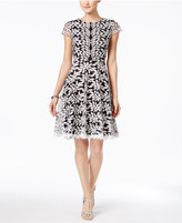 Jax Floral-Appliqué Fit & Flare Dress