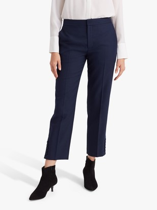 Club Monaco Button Detail Trousers, Navy