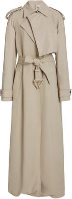 Bottega Veneta Long Belted Twill Trench Coat