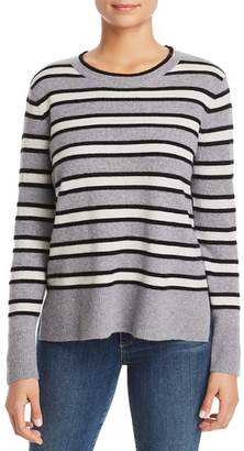 Bloomingdale's C by High/Low Striped Cashmere Sweater - 100% Exclusive