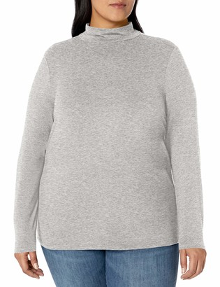 Amazon Essentials Plus Size Long-sleeve Mockneck T-Shirt