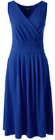 Lands' End Women's Petite Fit and Flare Dress-Rich Sapphire