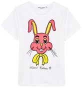 Mini Rodini White Rabbit Print Tee
