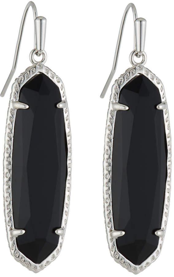 Kendra Scott Layla Drop Earrings Black Glass