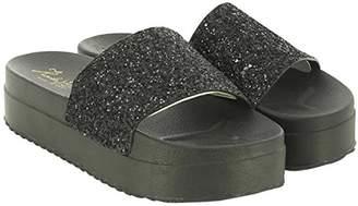 KOALA BAY Women's Cassie Platform Sandals, Black (Negro 002)