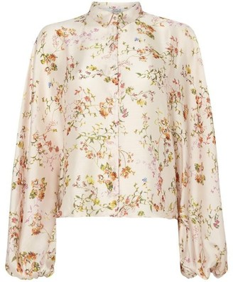 Replay Floral Shirt With Classic Collar