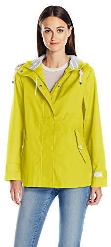 Joules Women's Coast Waterproof Hooded Rain Coat