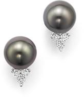 Bloomingdale's Cultured Tahitian Pearl Earrings with Diamonds in 18K White Gold