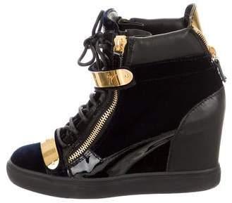 1b5431545a867 Giuseppe Zanotti Blue Women's Sneakers - ShopStyle