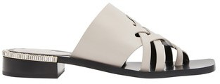 Coliac Paulie braided rhinestone sandals